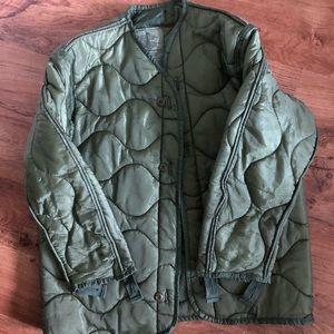 Vintage military jacket liner